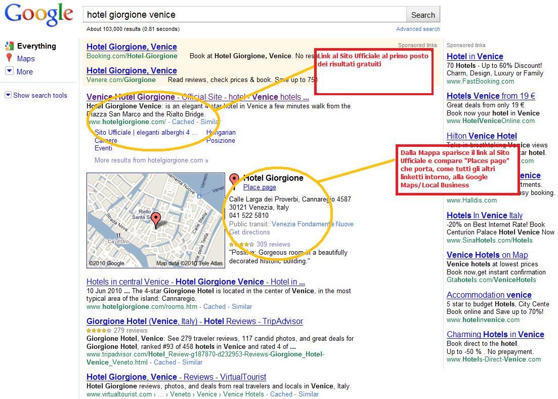 Hotel Giorgione Venice su Google.com