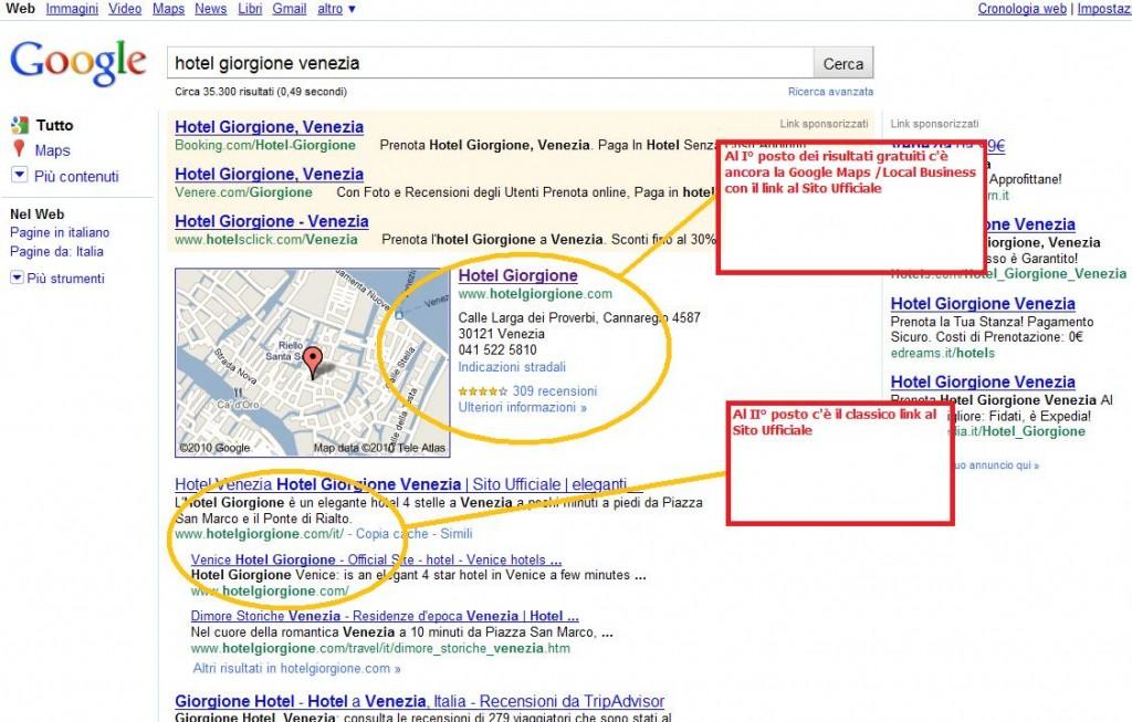 Hotel Giorgione Venezia su Google.it