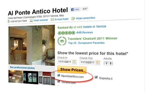 Tripadvisor Mostra Prezzi